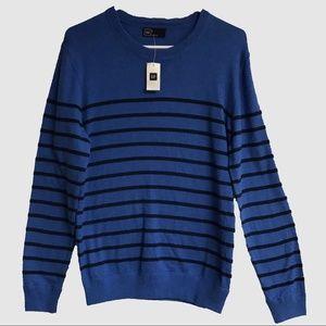 NWT - GAP Blue Sweater with Black Stripes